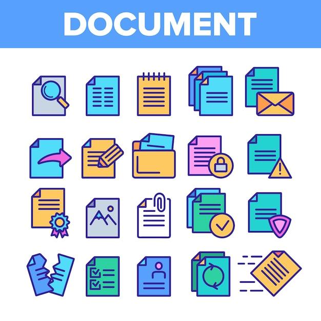 Documenti digitali e informatici Vettore Premium
