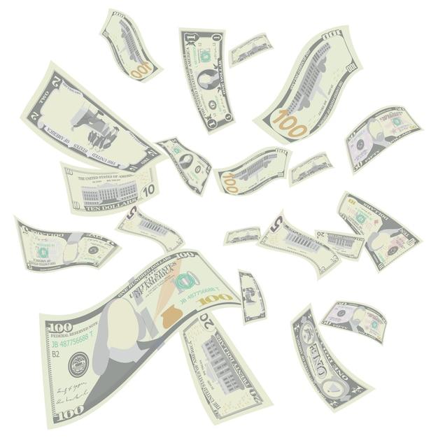 Dollari americani volanti Vettore Premium