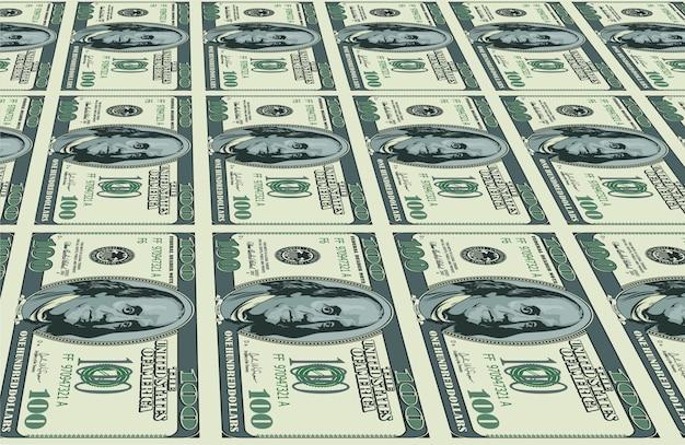 Dollari di fondo Vettore Premium