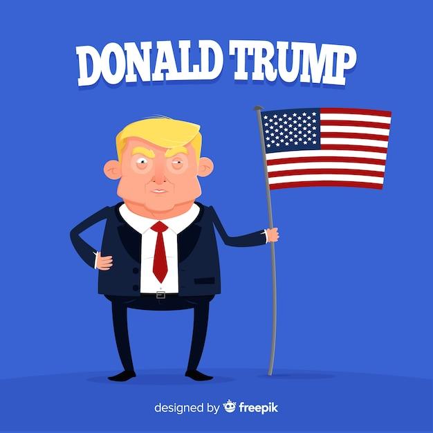 Donald trump personaggio con design piatto Vettore gratuito