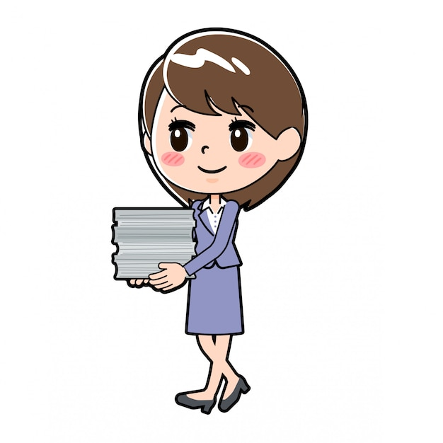 Donna d'affari fuori linea Vettore Premium