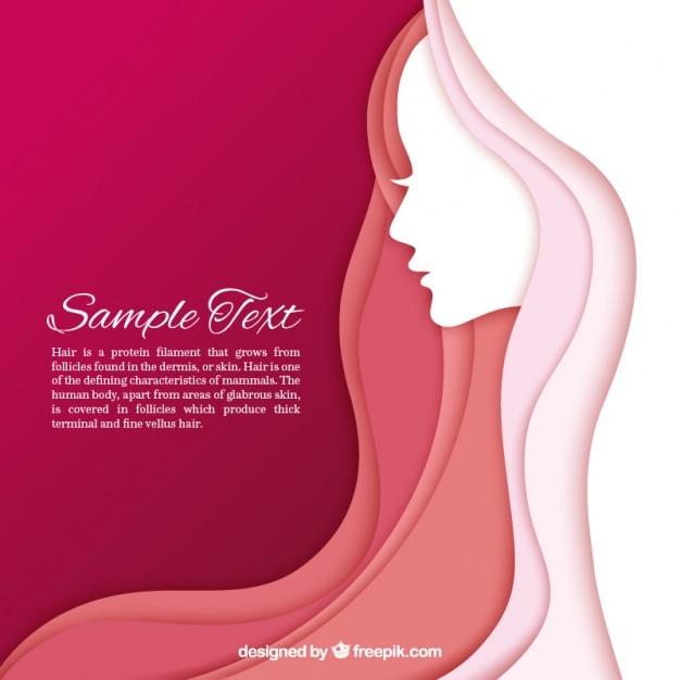 Donne modello silhouette Vettore gratuito