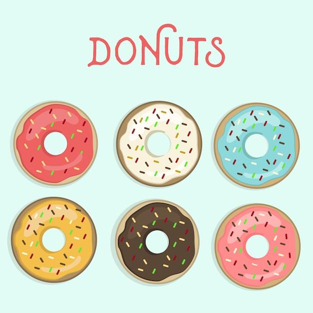 Donuts Vettore gratuito