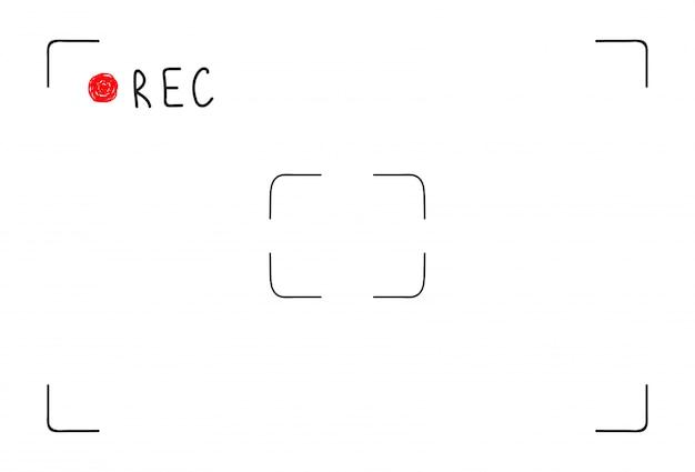 Doodle interfaccia di registrazione video Vettore Premium