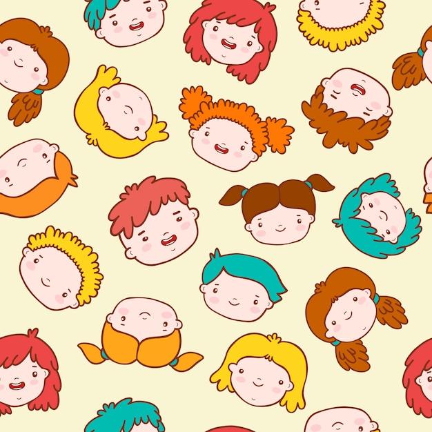 Doodle sfondo per bambini Vettore gratuito