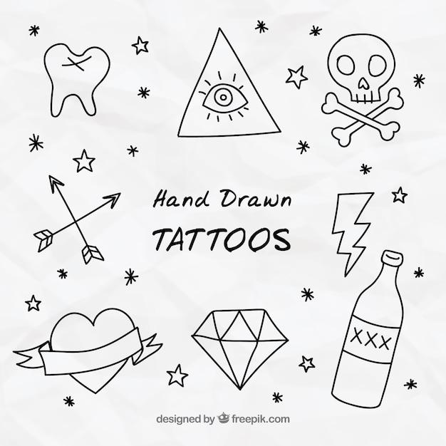 Doodles Tatuaggi Decorativi Scaricare Vettori Gratis