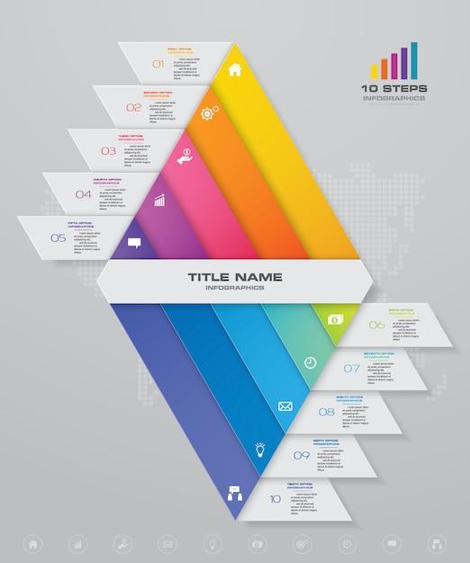 Doppio grafico a piramide con spazio libero per il testo. Vettore Premium