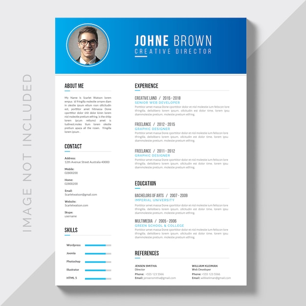 Download in formato cv modificabile Vettore gratuito