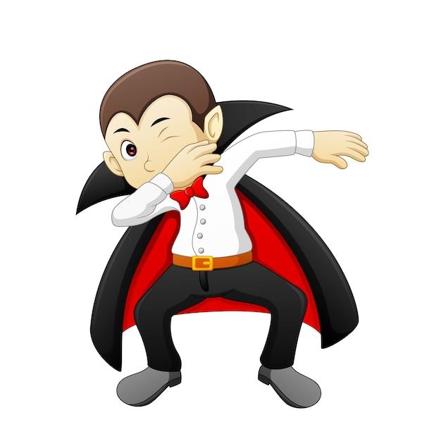 Dracula di cartone animato di doppiaggio scaricare vettori premium