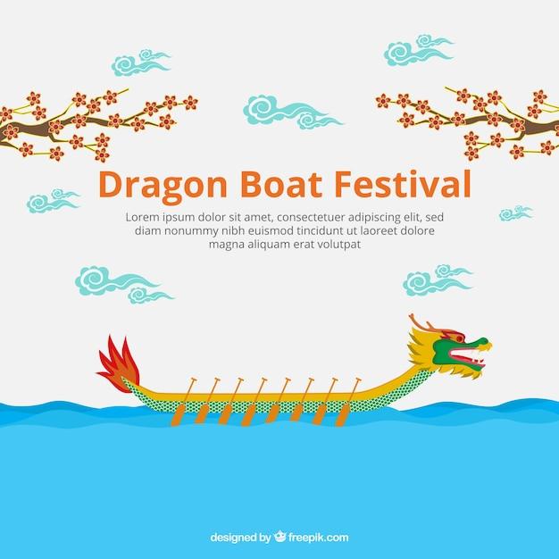 Dragon boat festival di sfondo Vettore gratuito