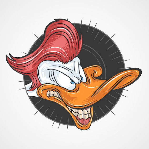Duck red hair Vettore Premium