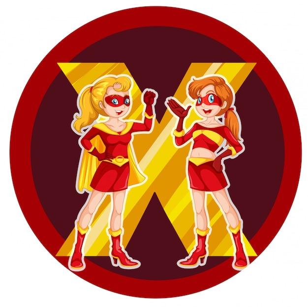 Due coraggiosi supereroi femminili Vettore gratuito