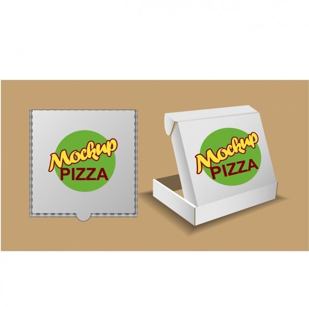 Due scatole per la pizza Vettore gratuito
