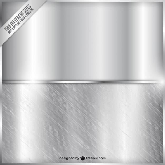 Due striscioni metallici Vettore gratuito