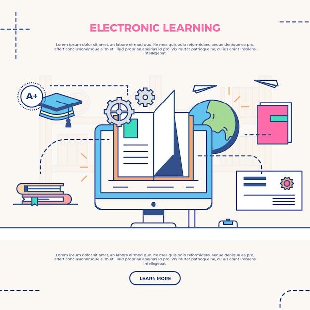 E-learning online Vettore gratuito