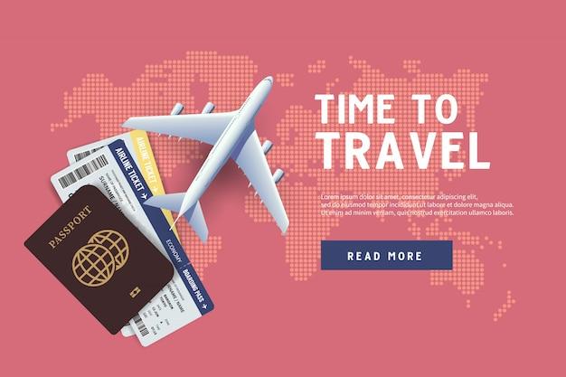 È tempo di viaggiare Vettore Premium