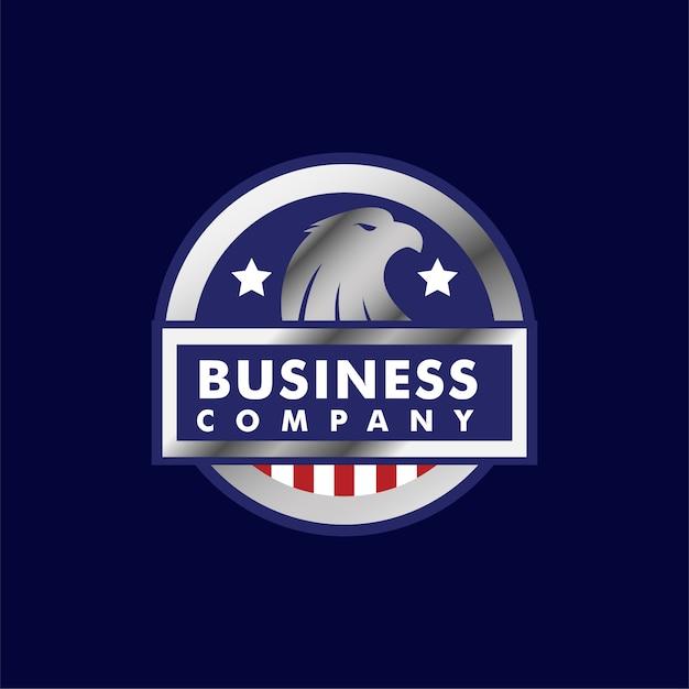 Eagle logo badge animals Vettore Premium