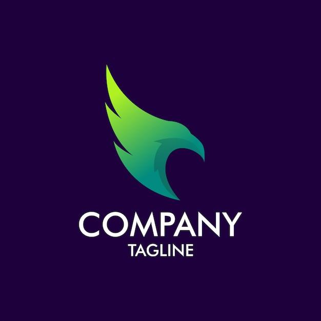 Eagle logo moderno Vettore Premium