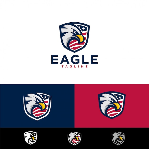 Eagle logo templates Vettore Premium