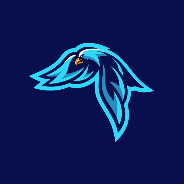 Eagle sports tournament vector illustration template Vettore Premium