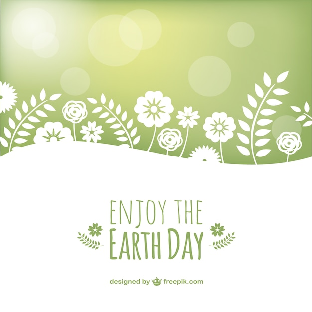Earth day vettoriale paesaggio Vettore gratuito