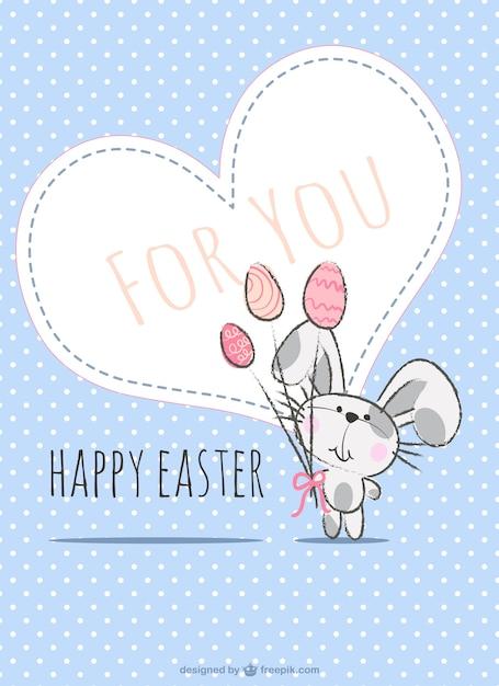 Easter card illustation Vettore gratuito