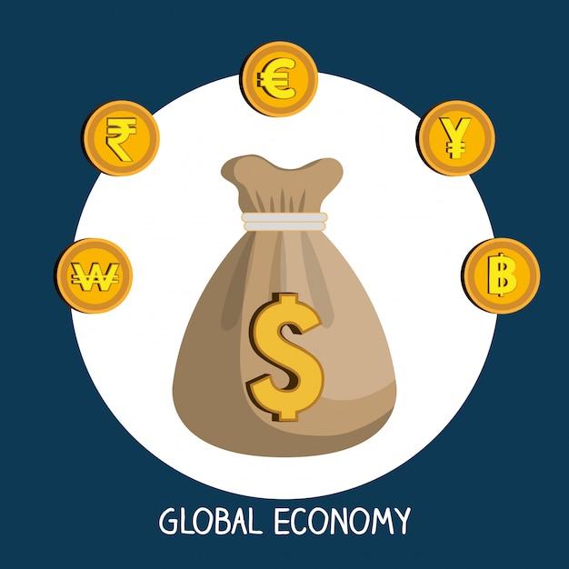 Economia globale Vettore gratuito