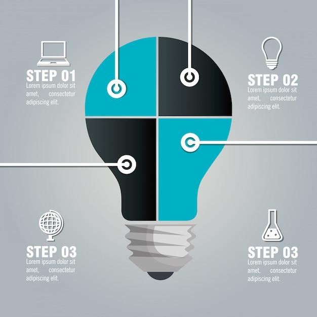 Educazione infografica Vettore gratuito