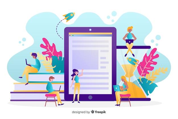 Educazione online Vettore gratuito