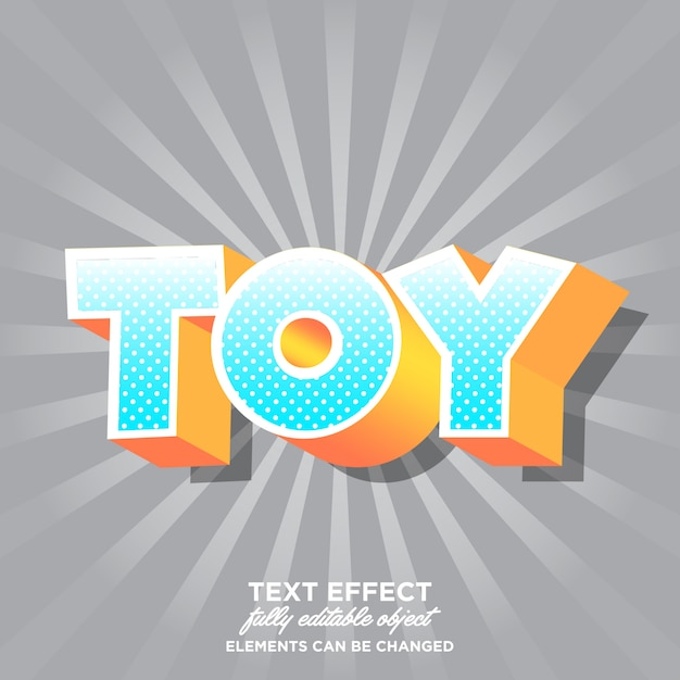 Effetto carattere moderno dei cartoni animati per adesivo Vettore Premium