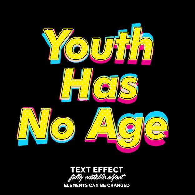 Effetto carattere pop art stile giovanile Vettore Premium