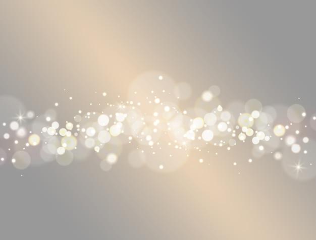 Effetto della luce astratto del bokeh. Vettore Premium