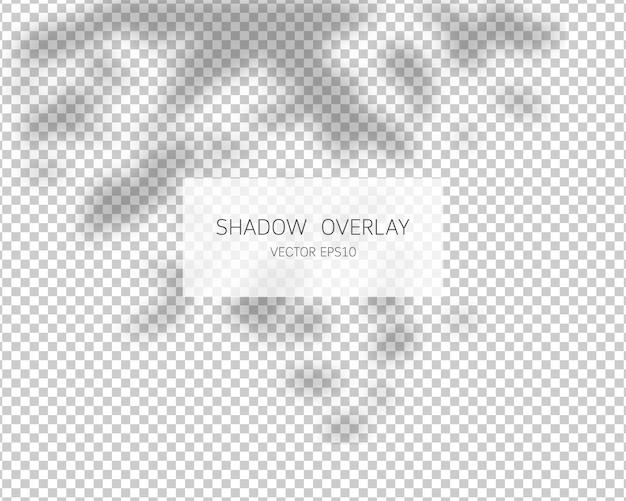 Effetto di sovrapposizione dell'ombra. lascia le ombre. illustrazione. Vettore Premium