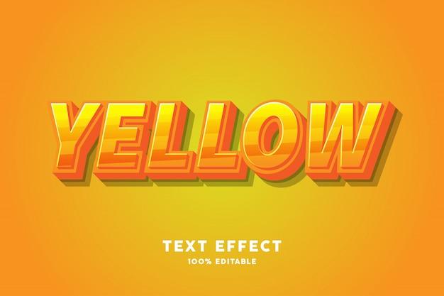 Effetto di testo di caramella gialla fresca Vettore Premium