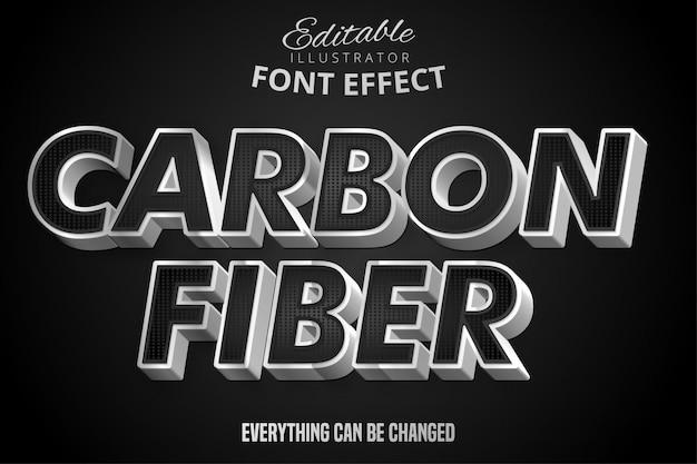 Effetto di testo metallico argento e nero, stile alfabeto in acciaio lucido Vettore Premium