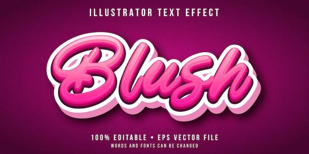 Effetto di testo modificabile - 3d stile di script rosa Vettore Premium