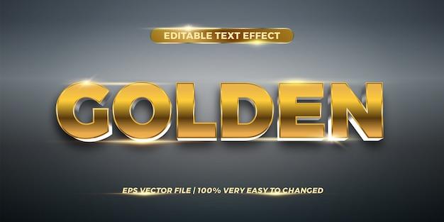 Effetto di testo modificabile - concetto di stile di testo dorato Vettore Premium