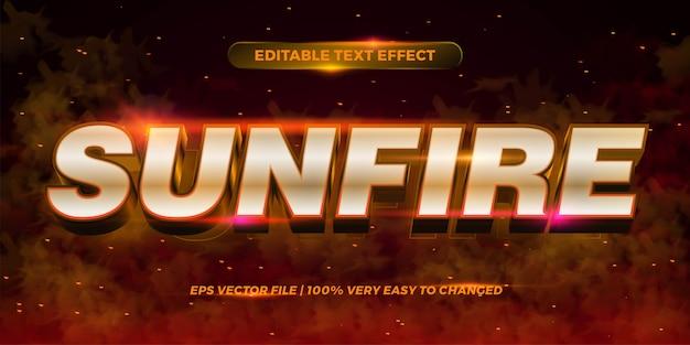Effetto di testo modificabile - espandi al sole le parole del fuoco di stile del concetto di fumo del fondo di concetto Vettore Premium