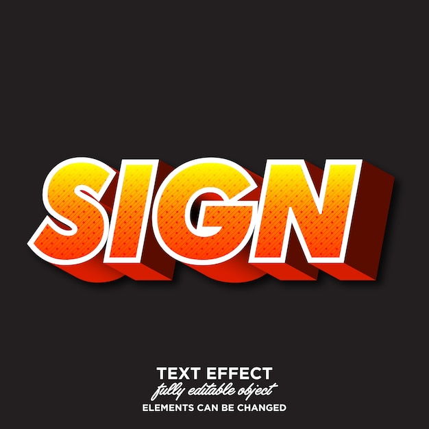 Effetto font moderno per progetti di adesivi Vettore Premium