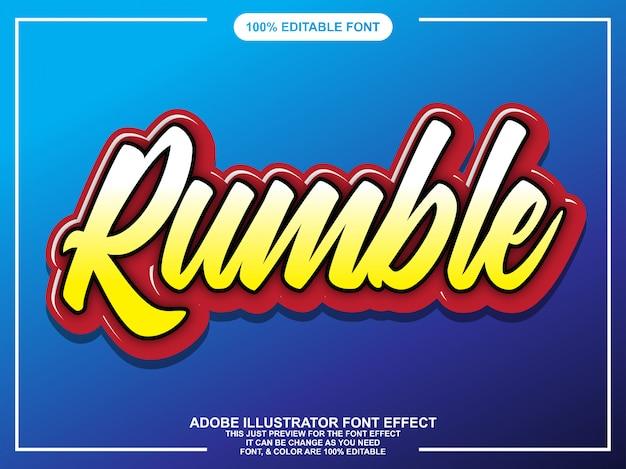 Effetto font tipografia modificabile script colorato Vettore Premium