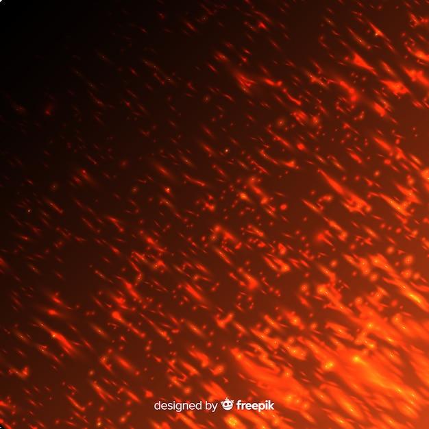 Effetto fuoco rosso su sfondo trasparente Vettore gratuito