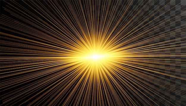Effetto luce bagliore trasparente Vettore Premium