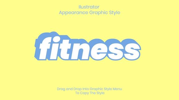 Effetto stile testo fitness Vettore Premium