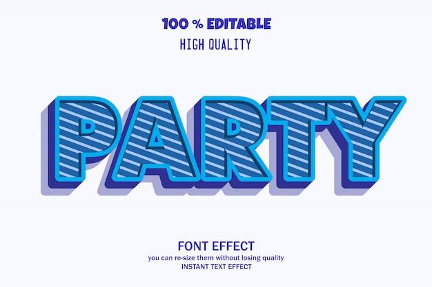 Effetto testo 3d moderno, effetto carattere modificabile Vettore Premium