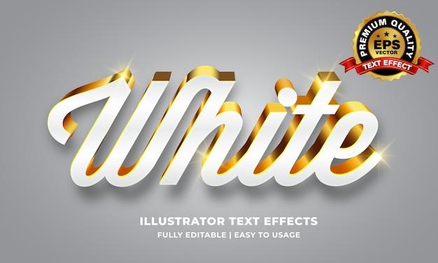 Effetto testo in oro bianco Vettore Premium