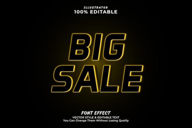 Effetto testo modificabile di grande vendita Vettore Premium