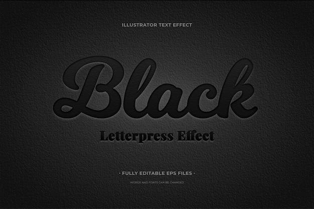 Effetto testo nero Vettore gratuito