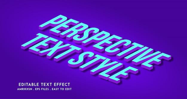 Effetto testo prospettiva 3d Vettore Premium