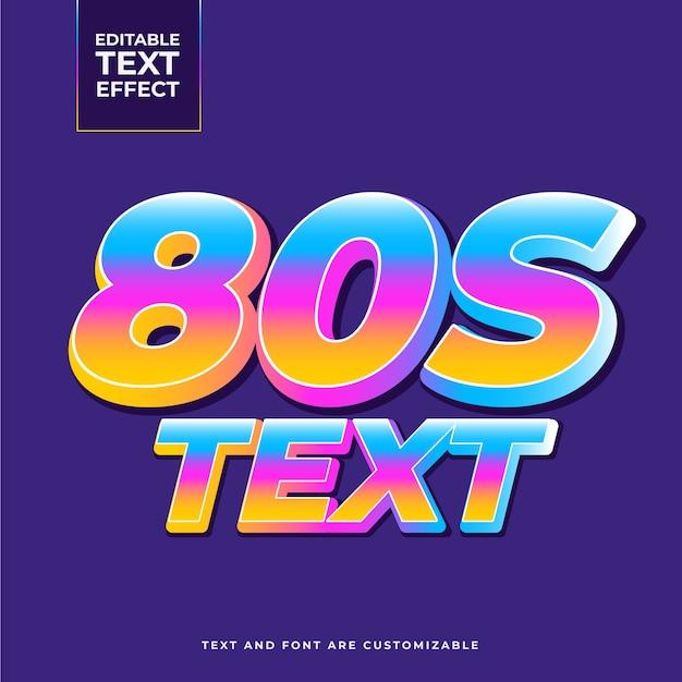 Effetto testo retrò anni '80 Vettore gratuito