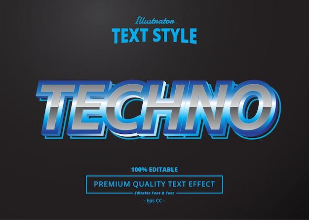 Effetto testo techno Vettore Premium